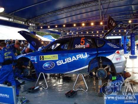 Neue Vinyl, Subaru Impreza WRX STi für GTA San Andreas Rückansicht