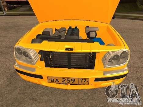 Volga GAZ-31105 Taxi pour GTA San Andreas vue de côté