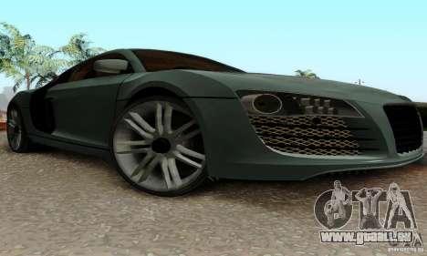Audi R8 LeMans pour GTA San Andreas vue intérieure