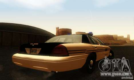 Ford Crown Victoria Tennessee Police pour GTA San Andreas laissé vue