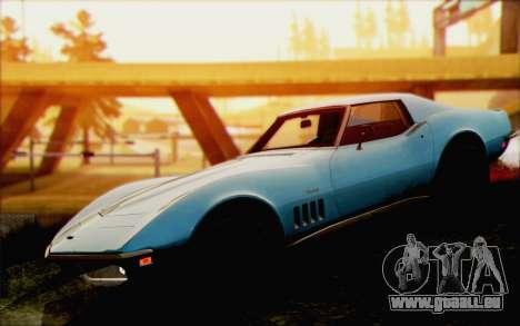Chevrolet Corvette C3 Stingray T-Top 1969 pour GTA San Andreas vue de droite