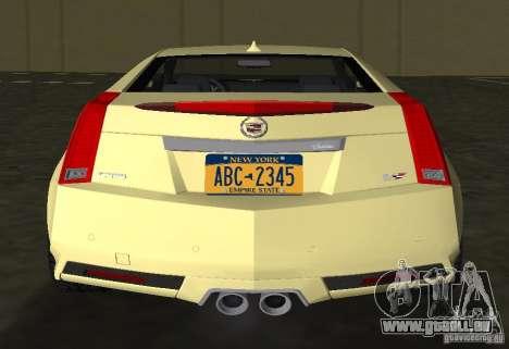 Cadillac CTS-V Coupe für GTA Vice City Rückansicht