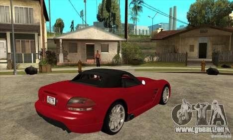 Dodge Viper SRT-10 pour GTA San Andreas vue de droite