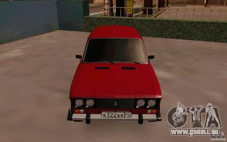 VAZ 2106 Drain pour GTA San Andreas vue intérieure