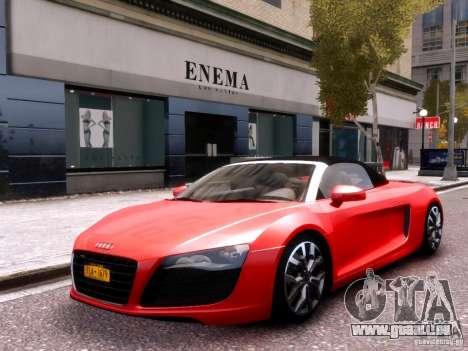 Audi R8 Spyder 5.2 FSI quattro V4 EPM pour GTA 4 est un côté