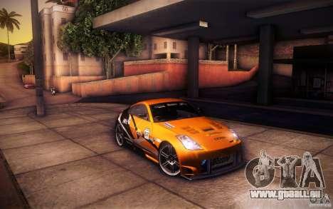 Nissan 350Z Fairlady pour GTA San Andreas moteur