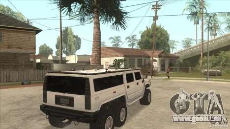Hummer H6 pour GTA San Andreas vue de droite