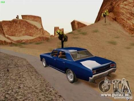Chevrolet Chevelle pour GTA San Andreas vue intérieure