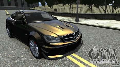 Mercedes Benz C63 AMG Black Series 2012 pour GTA 4 Vue arrière