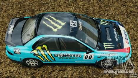 Subaru Impreza WRX STI 1995 Rally version für GTA 4 rechte Ansicht