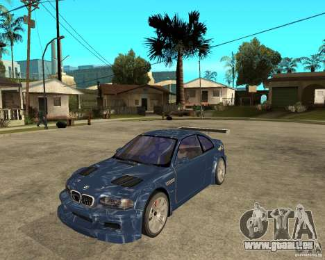 BMW M3 GTR von Need for Speed Most Wanted für GTA San Andreas