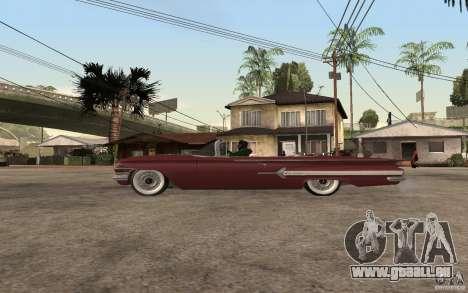 Chevrolet Impala 1960 pour GTA San Andreas laissé vue