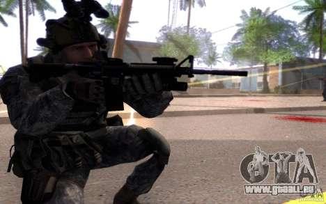 Le caporal Dunn pour GTA San Andreas troisième écran