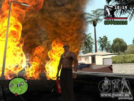 Nouvel extincteur pour GTA San Andreas quatrième écran