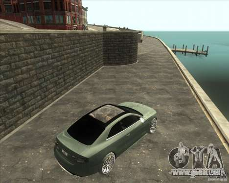 Audi S5 V8 custom 2008 pour GTA San Andreas laissé vue