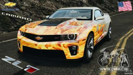 Chevrolet Camaro ZL1 2012 v1.0 Flames für GTA 4