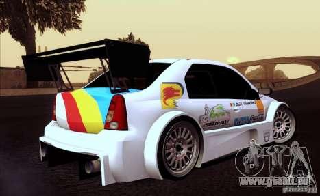 Dacia Logan Trophy Edition 2005 für GTA San Andreas Innenansicht