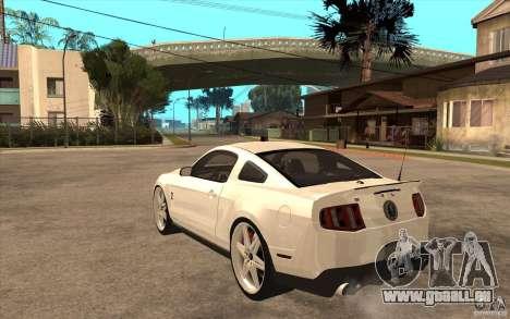 Ford Shelby GT500 pour GTA San Andreas sur la vue arrière gauche