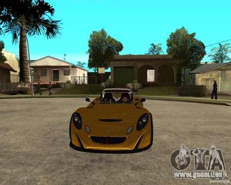Lotus 2-Eleven für GTA San Andreas Rückansicht