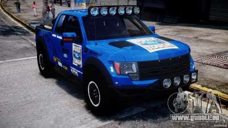 Ford F150 Racing Raptor XT 2011 pour GTA 4 Vue arrière