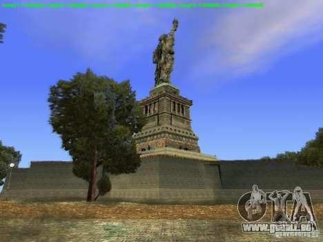 Statue de la liberté 2013 pour GTA San Andreas sixième écran