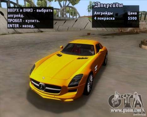 Mercedes-Benz SLS AMG V12 TT Black Revel pour GTA San Andreas vue de dessous