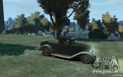 Ford Pickup 1930 pour GTA 4 Vue arrière