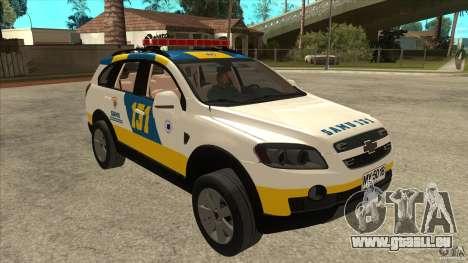 Chevrolet Captiva Police für GTA San Andreas Rückansicht