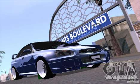 Subaru Impresa WRX light tuning pour GTA San Andreas vue arrière