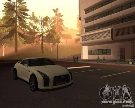 Nissan GT-R Pronto pour GTA San Andreas vue de droite