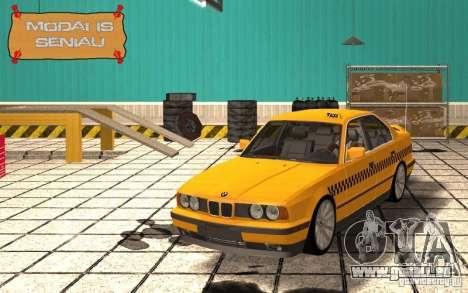 BMW E34 535i Taxi pour GTA San Andreas vue intérieure