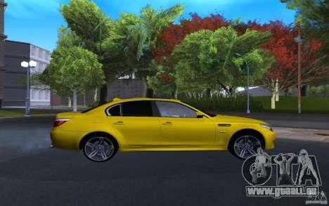 BMW M5 Gold Edition pour GTA San Andreas vue de droite