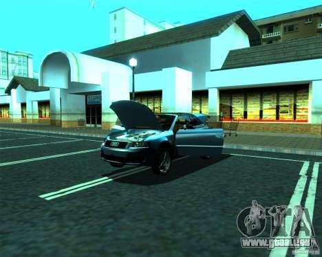 Audi A4 Cabrio pour GTA San Andreas vue intérieure