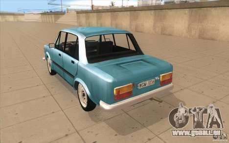 Fiat 125p pour GTA San Andreas sur la vue arrière gauche