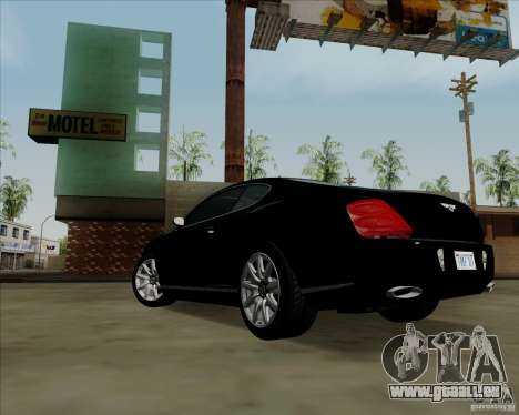 Bentley Continental GT V1.0 pour GTA San Andreas salon