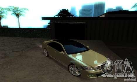 Mercedes-Benz S500 W221 Brabus für GTA San Andreas Innenansicht