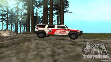 HUMMER H2 Amulance pour GTA San Andreas laissé vue