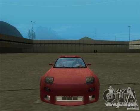 Mazda RX-7 weapon war pour GTA San Andreas sur la vue arrière gauche