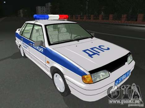 VAZ 2115 Polizei DPS für GTA San Andreas