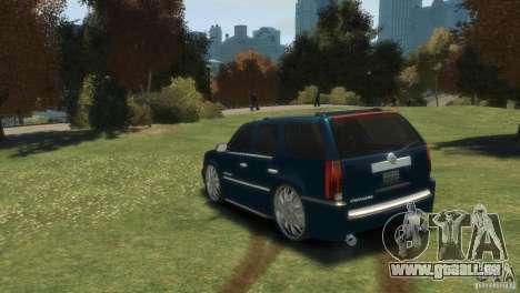 Cadillac Escalade Dub pour GTA 4 Vue arrière de la gauche