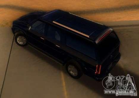 Cadillac Escalade ESV 2006 für GTA San Andreas zurück linke Ansicht