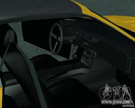 Chevrolet Camaro 1992 für GTA San Andreas rechten Ansicht