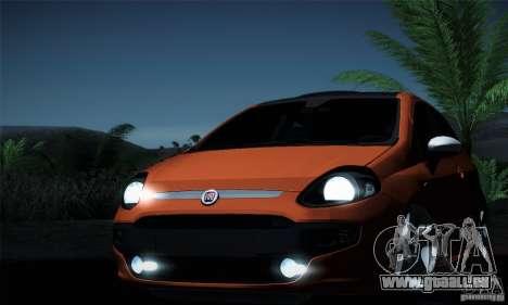 Fiat Punto Evo 2010 Edit für GTA San Andreas Unteransicht