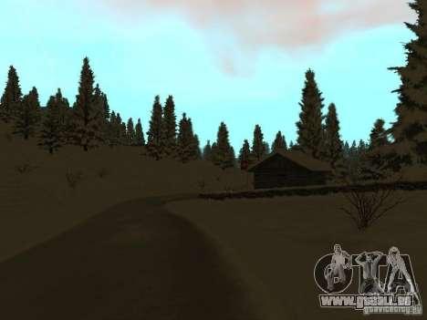 Sentier d'hiver pour GTA San Andreas quatrième écran