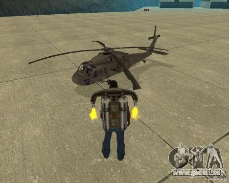 Transport aérien Pak pour GTA San Andreas vue de dessous