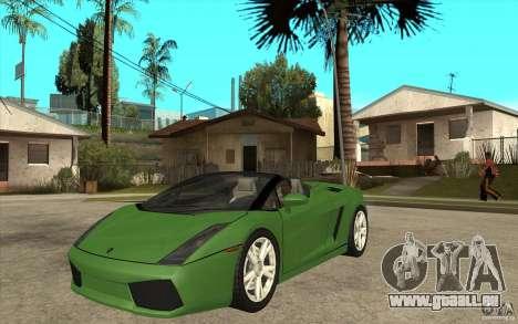 Lamborghini Gallardo Spyder für GTA San Andreas