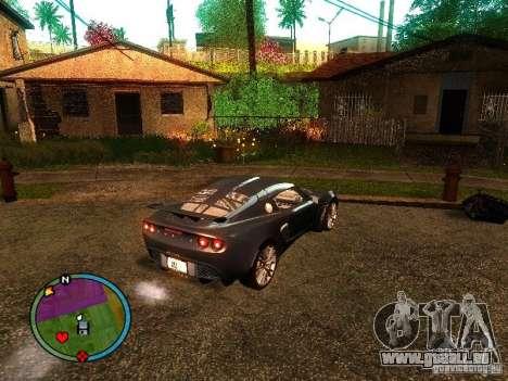 Lotus Exige - Stock pour GTA San Andreas laissé vue