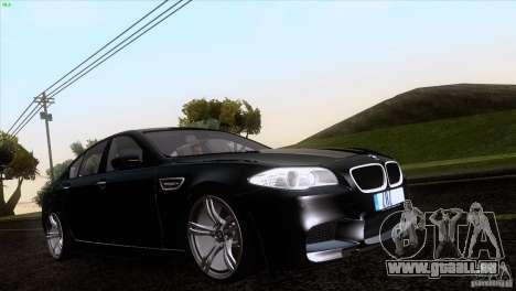BMW M5 2012 pour GTA San Andreas vue de côté