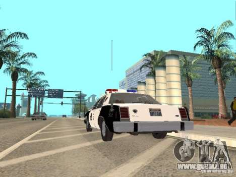 Ford LTD Crown Victoria Interceptor LAPD 1985 pour GTA San Andreas vue de droite