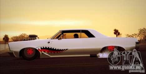 Pontiac GTO Drag Shark für GTA San Andreas zurück linke Ansicht